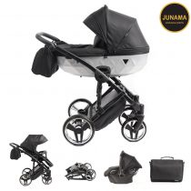 Junama Mirror Satin 01 Black Silver
