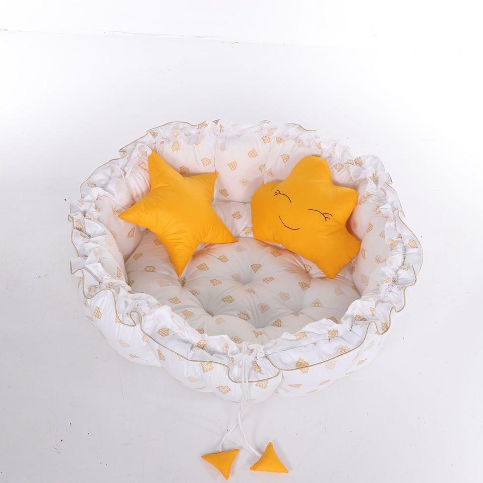 Baby Nest Junama Mat Pen 01 White