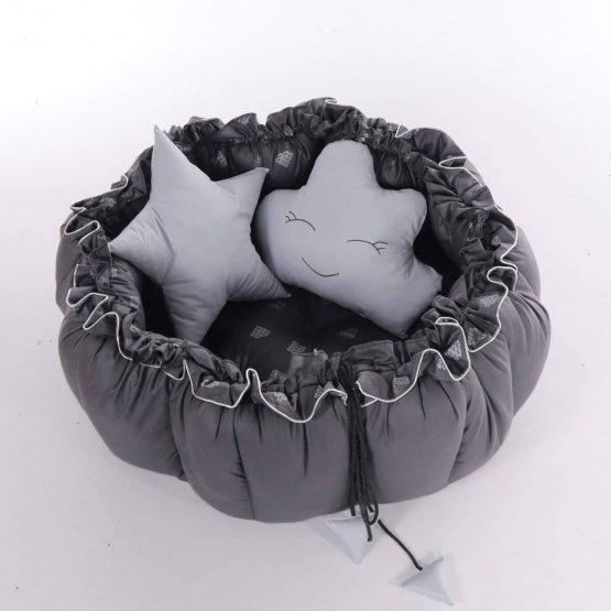 Baby Nest Junama Mat Pen 03 Grey