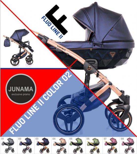 Junama Fluo Line 2.0 Blue 02 – Carucior 3 in 1