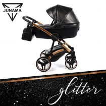 Junama Glitter 01 Black - Carucior 3 in 1