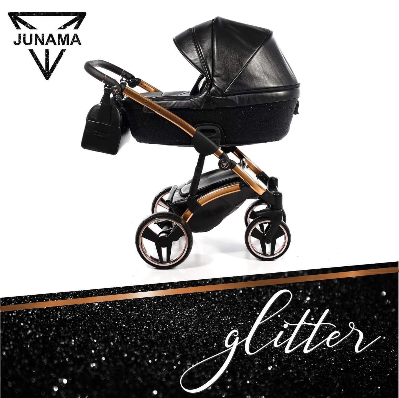 Junama Glitter 01 Black – Carucior 3 in 1